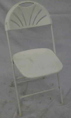 Where to find CHAIR, WHITE PLASTIC in Stillwater