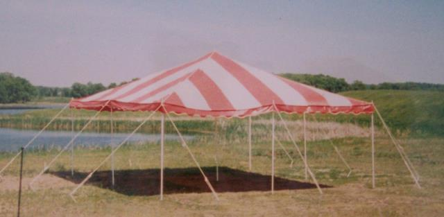 Where to find CANOPY 20X20 RED WHITE in Stillwater